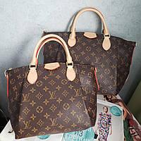 Женская стильная сумка в двух размерах  Louis Vuitton LV Луи Виттон  реплика