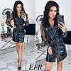 Сукня жіноча з запахом (4 кольори) ЕФ/-492 - Чорний