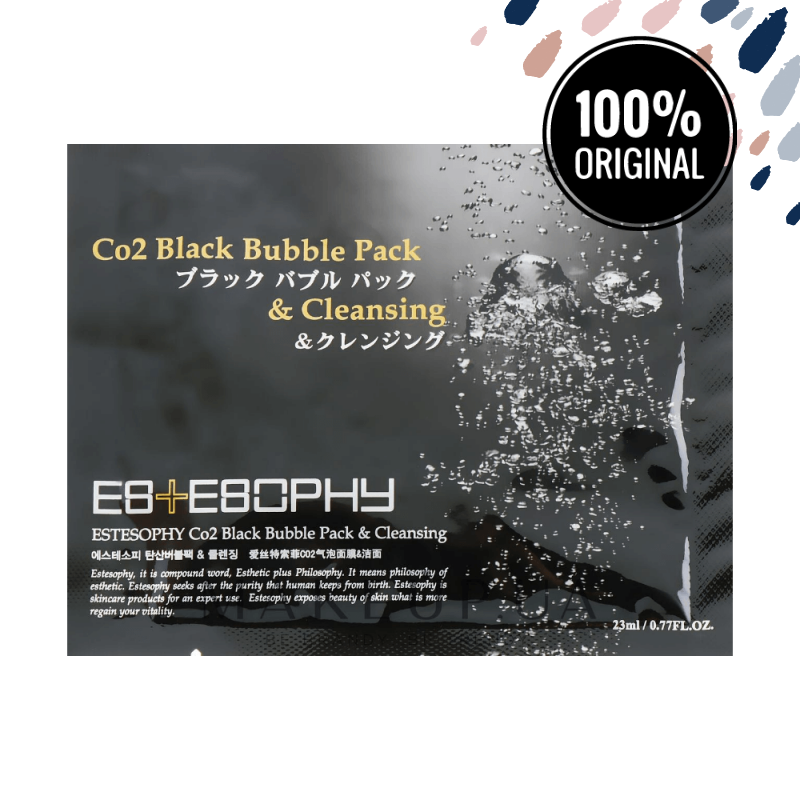 Маска для карбокситерапии лица ESTESOPHY Co2 Black Bubble Pack & Cleansing