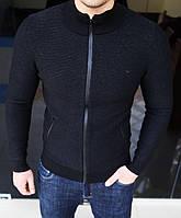 Мужская теплая кофта Emporio Armani H0271 черная