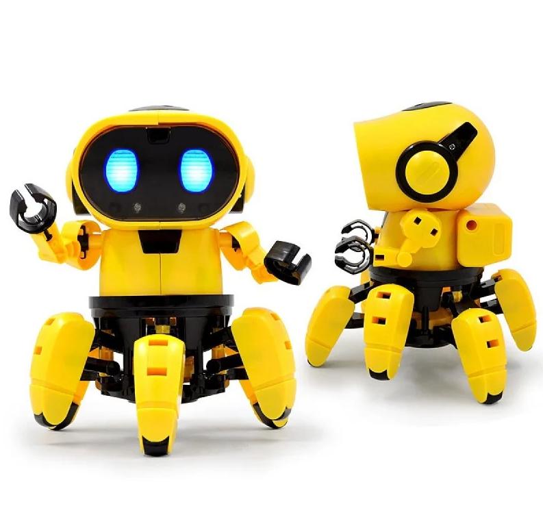 Интерактивный робот Tobi, свет, звук, 15х11,5 см, желтый