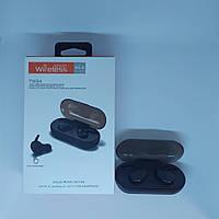 Беспроводные bluetooth спортивные наушники гарнитура Wireless TWS 4 Белые и чёрные, фото 1
