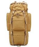 Тактическая туристическая сумка рюкзак 65-75л Oxford 600D военная охотничья крепкая три цвета, фото 4