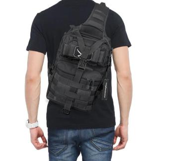 Тактическая военная туристическая мужская сумка рюкзак на 20 литров чёрная и олива