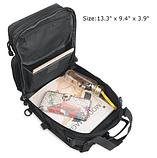 Тактическая военная туристическая мужская сумка рюкзак на 20 литров чёрная и олива, фото 3