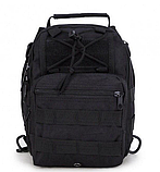 Тактична військова туристична чоловіча сумка рюкзак на 20 літрів чорна і олива, фото 8