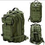 Тактический штурмовой рюкзак 6 25 35 и 45л Oxford 600D очень крепкий чёрные и оливковый, фото 2