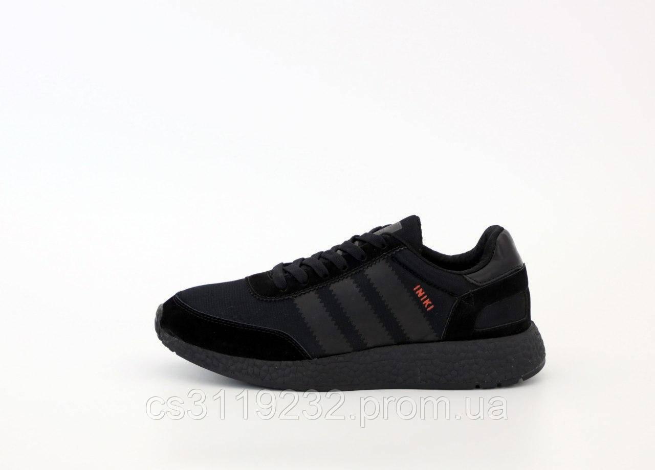 Мужские кроссовки Adidas Iniki (черные)