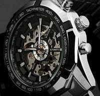 Механические мужские часы Winner серебро качество превыше всего, фото 1
