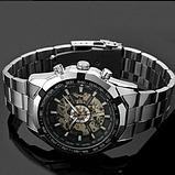 Механічні чоловічі годинник Winner срібло якість понад усе, фото 2