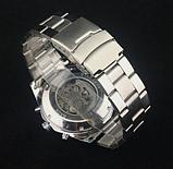 Механічні чоловічі годинник Winner срібло якість понад усе, фото 3