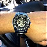 Механічні чоловічі годинник Winner срібло якість понад усе, фото 6