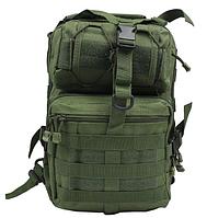 Рюкзак Штурмовой Тактический Военный однолямочный 20л. Traum зеленый