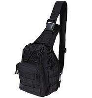 Сумка рюкзак тактическая повседневная на 4-6 литров  чёрный и олива