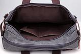 Прочная повседневная Сумка Рюкзак трансформер из ткани А4, под Ноутбук, фото 4