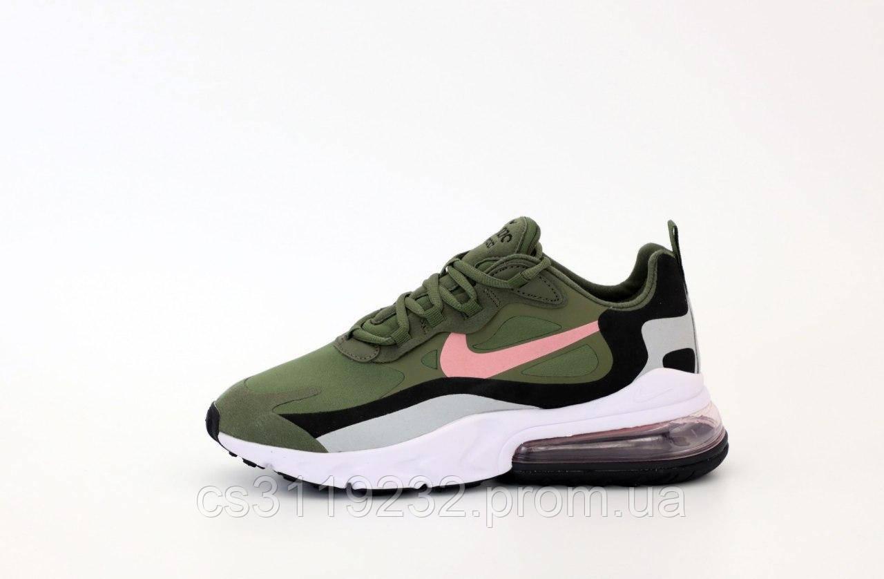 Мужские кроссовки Nike Air Max 270 React Green White (хаки)