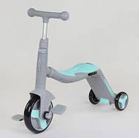 Самокат детский с сиденьем, Самокат Велосипед Scooter Трансформер 2в1 - Ментол