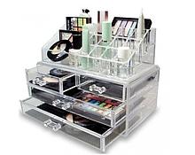 Бокс органайзер для косметики Cosmetic storage box Прозрачный