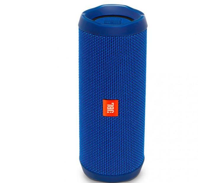 Портативная колонка Flip 4 Bluetooth синяя и красная чёрные камуфляжные