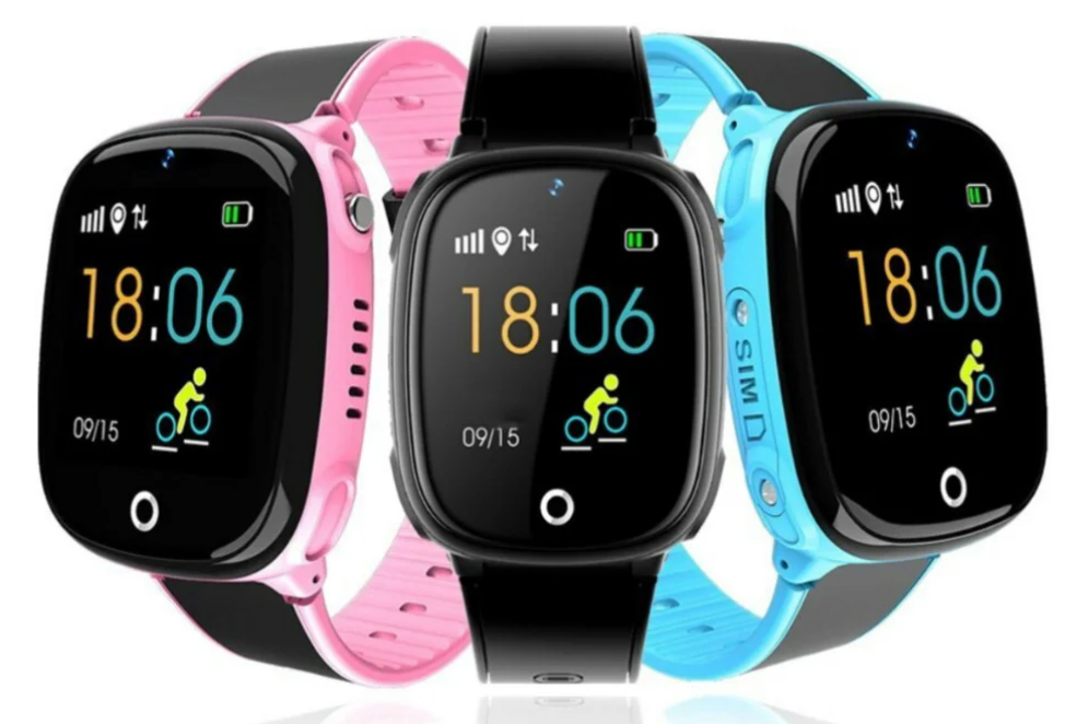 """Дитячий розумний годинник SUNROZ HW11 смарт-годинник 1.44"""" GPS синій рожевий"""