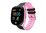 """Дитячий розумний годинник SUNROZ HW11 смарт-годинник 1.44"""" GPS синій рожевий, фото 5"""