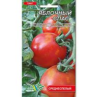 Томат Яблочный спас, красный среднеспелый, среднерослый, семена 0.1г