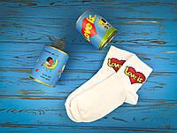 """Консервовані шкарпетки """"Love is..."""" для дівчини, фото 1"""