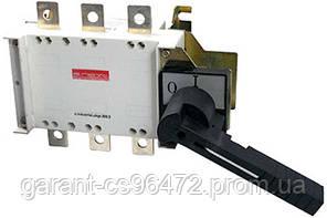 Вимикач-роз'єднувач навантаження e.industrial.ukgz.630.3, 3р, 630А, з боковою рукояткою управління