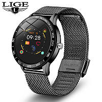 Cмарт-часы с металлическим ремешком Smart Watch Lige HS-B26 Black