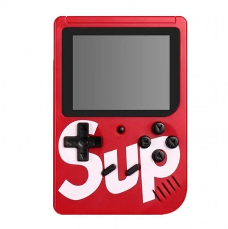 Портативная приставка Retro FC Game Box Sup dendy 400 in 1 Цвет чёрный синий красный и белый