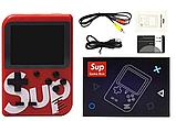 Портативная приставка Retro FC Game Box Sup dendy 400 in 1 Цвет чёрный синий красный и белый, фото 5