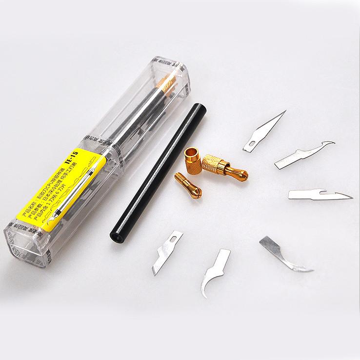 Набор скальпелей TE-15 1 ручка и 6 лезвий (7в1)