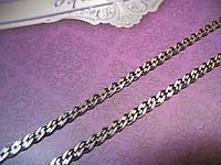 Цепочка нонна черненая серебро 925
