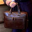 Деловая сумка Issa Hara B23 из натуральной гладкой кожи, фото 9