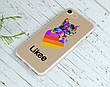Силиконовый чехол для Apple Iphone Se Likee (Лайк) (4006-3438), фото 5