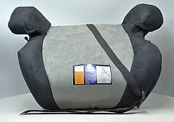 Бустер автокресло LLB-125 15-36 кг, черно-серый велюр