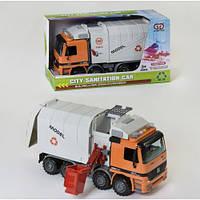 Інерційна сміттєзбиральна машина Wenyi 899-5C (машинка сміттєвоз): розмір 38см (світло + звук)
