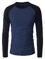 Облегающая мужская футболка с длинным рукавом, фото 1