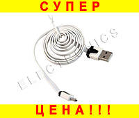 Шнур Кабель USB--MICROUSB 1m плоский