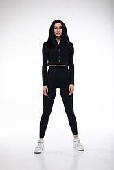 Спортивная  Короткая Женская Кофта Nova Vega Black