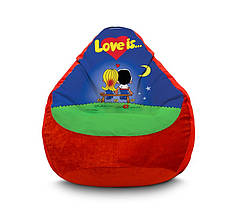 """Крісло мішок """"Love is..."""" Флок"""