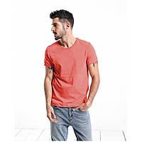Мужская хлопковая коралловая футболка , фото 1