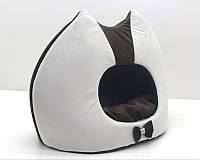 Будка для котов и собак Мистик-котик №2 36х46х46 см коричневая, фото 1