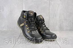 Мужские ботинки кожаные зимние черные Pav 3231