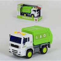 Інерційна сміттєзбиральна машина Wenyi 521A (машинка сміттєвоз): розмір 19см (світло + звук)