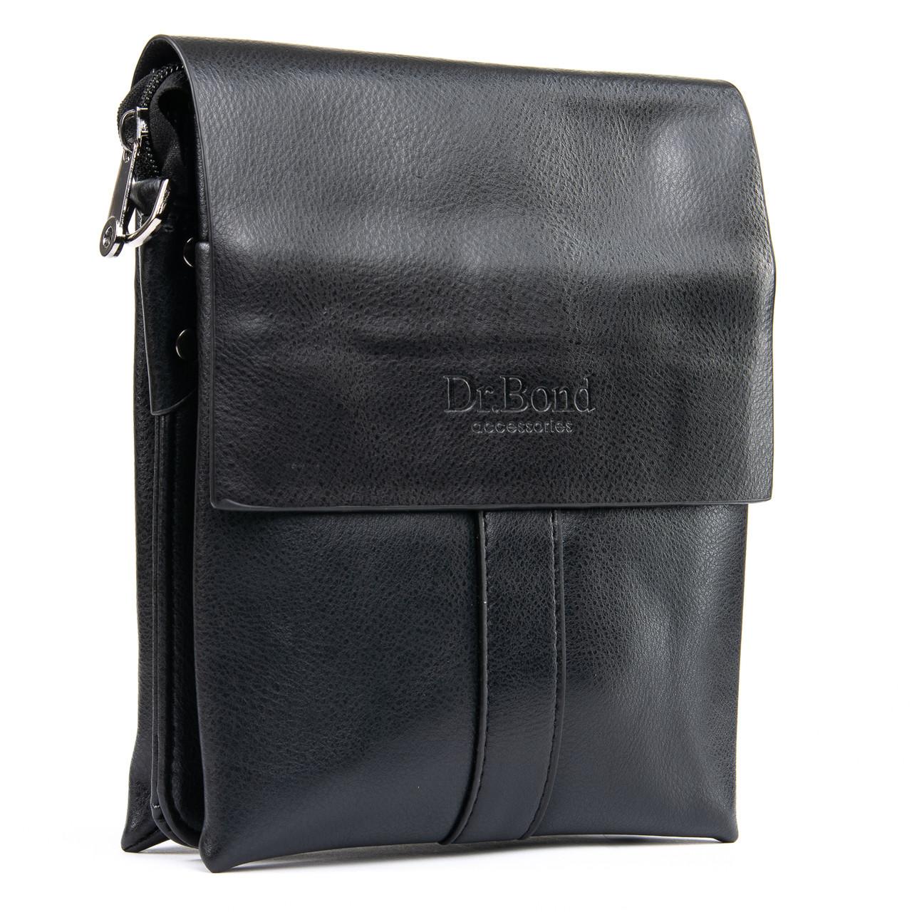 Мужская сумка планшет через плечо иск-кожа DR. BOND GL 202-2 black