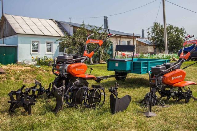 Мотоблоки и культиваторы Husqvarna с навесным оборудованием