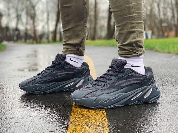 Кроссовки мужские в стиле Yeezy Boost 700 V2 черные, фото 2