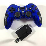 Беспроводной джойстик Game World 6 в 1 GTM для ПК/PS2/PS3/PC360/ANDROID TV/WIN10 Синий, фото 4