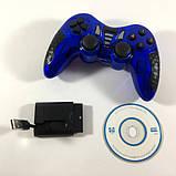 Беспроводной джойстик Game World 6 в 1 GTM для ПК/PS2/PS3/PC360/ANDROID TV/WIN10 Синий, фото 5